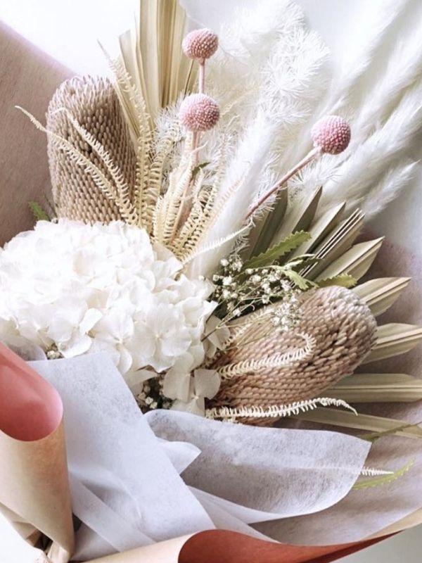 Clear Quartz Dried Bouquet